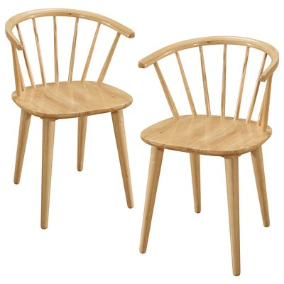Camden Solid Wood Dining Chair Color: Natural