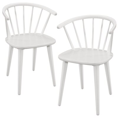 Camden Solid Wood Dining Chair Color: White