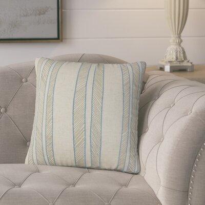 Picard Stripes Throw Pillow Color: Blue