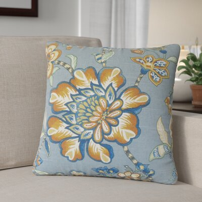 Calie Floral Down Filled 100% Cotton Throw Pillow Size: 18 x 18