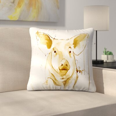 Pig Throw Pillow Size: 16 x 16