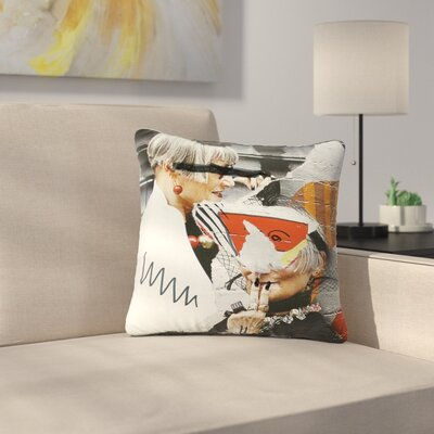 Jina Ninjjaga Style Pop Art Outdoor Throw Pillow Size: 18 H x 18 W x 5 D