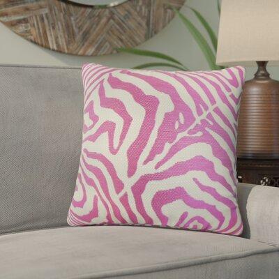 Ber Zebra Print Cotton Throw Pillow Color: Shocking Pink