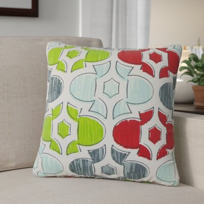 Sevier Geometric Cotton Throw Pillow Color: Green