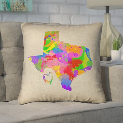 Sherilyn Texas Love Double Sided Print Size: 16 x 16, Type: Throw Pillow