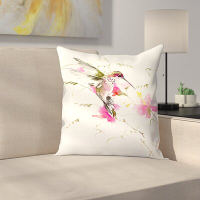Suren Nersisyan Hummingbird Flyiong 3 Throw Pillow Size: 16 x 16