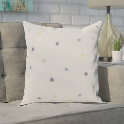 Carmanor Dots Pillow Color: Purple, Size: 20 x 20