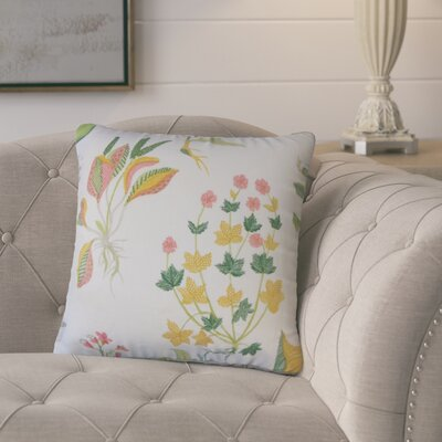 Rafanan Modern Floral Down Filled 100% Cotton Throw Pillow Size: 20 x 20