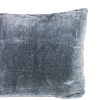 Laufer Velvet Sham Color: Charcoal