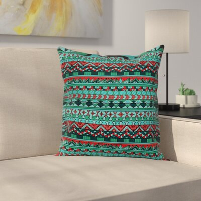 Tribal Geometric Pillow Cover Size: 18 x 18
