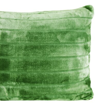 Laureano Velvet Stripe Sham Color: Kale