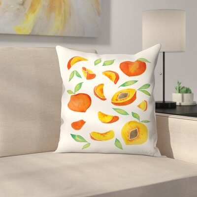 Peaches Throw Pillow Size: 20 x 20