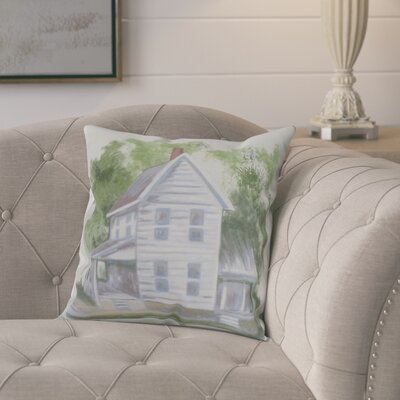 Chavira Throw Pillow Color: Ivory, Size: 18 x 18