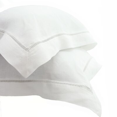 Venegas Ladder Hem Linen Cotton Sham Color: White, Size: Standard