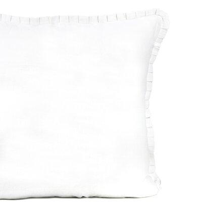 Crosswhite Ruffle Linen Cotton Sham Size: Standard