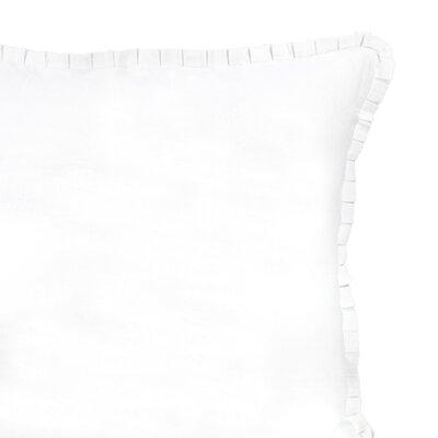 Crosswhite Ruffle Linen Cotton Sham Size: Euro
