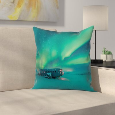 Misty Winter Day View Cushion Pillow Cover Size: 24 x 24