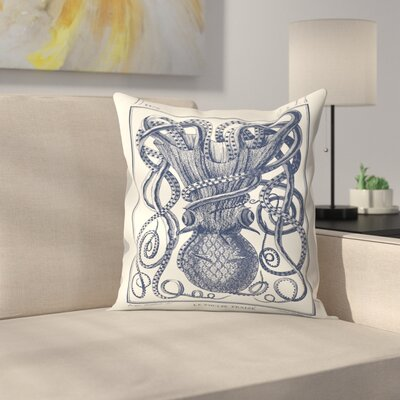 Tangles Tentacles Throw Pillow Size: 16 x 16