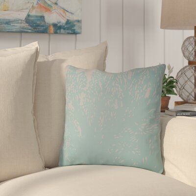 Broadbent Square Throw Pillow Size: 18 H x 18 W x 4 D, Color: Blue