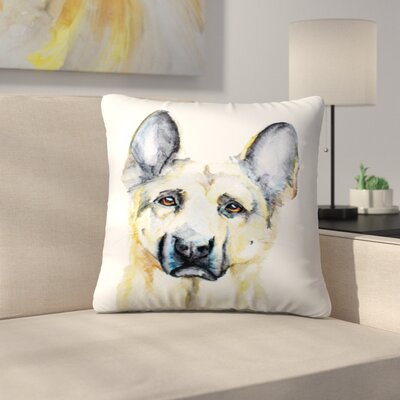 German Shepherd Throw Pillow Size: 20 x 20
