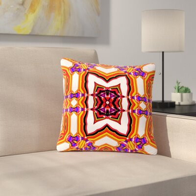Dawid Roc Inspired by Psychedelic Art 4 Abstract Outdoor Throw Pillow Size: 16 H x 16 W x 5 D