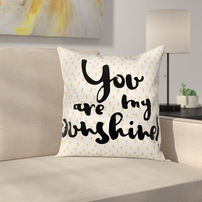 Droplets Romance Square Pillow Cover Size: 20 x 20