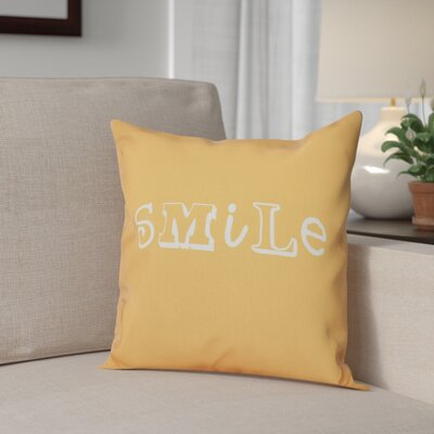 Scotland Happy Smile Throw Pillow Size: 16 H x 16 W, Color: Yellow