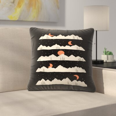 Moon Rises Moon Sets Throw Pillow Size: 14 x 14