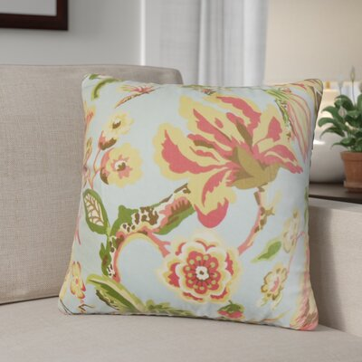 Pearse Floral Throw Pillow Color: Light Blue, Size: 22 x 22