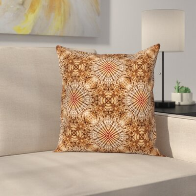 Abstract Tie Dye Shell Square Pillow Cover Size: 16 x 16