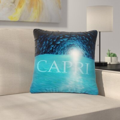 Theresa Giolzetti the Grotto of Capri Outdoor Throw Pillow Size: 16 H x 16 W x 5 D