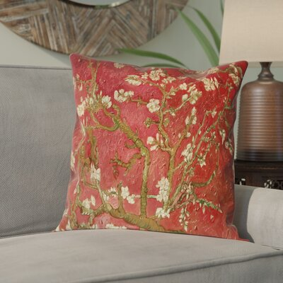 Lei Almond Blossom Suede Pillow Cover Color: Orange