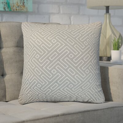 Kibler Geometric Throw Pillow Cover Color: Silver