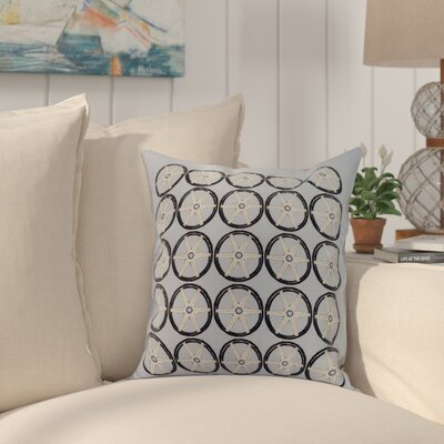 Harriet Nautical Print Throw Pillow Color: Blue, Size: 20 x 20