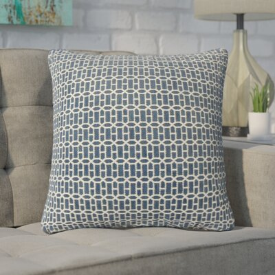 Yemanja Geometric Throw Pillow Color: Lapis