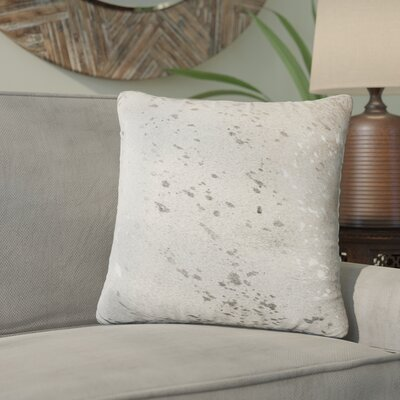 Graham Leather Throw Pillow Color: Gray/Silver