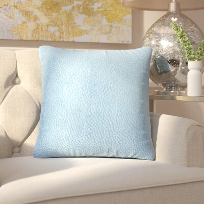Chevaliers Solid Throw Pillow Color: Navy