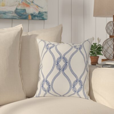 Cece 100% Cotton Throw Pillow Size: 22 H x 22 W, Color: Dark Blue, Fill Material: Poly Fill