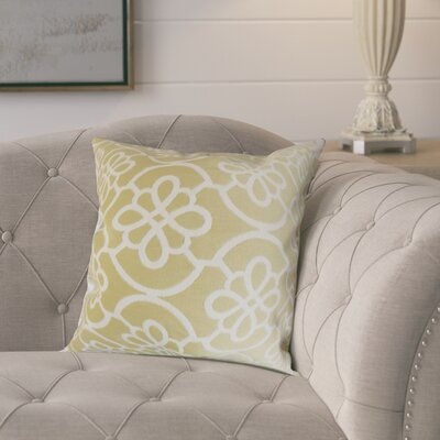 Throw Pillow Color: Almond, Size: 22 x 22