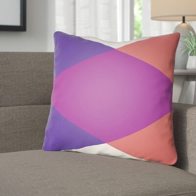 Wakefield Ii Throw Pillow Size: 18 H x 18 W x 4 D, Color: Magenta