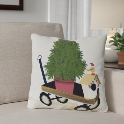 Take Me Home Throw Pillow Size: 16 H x 16 W, Color: Off White
