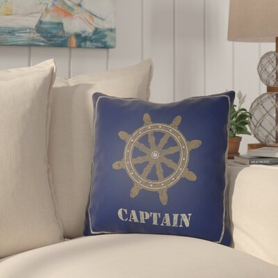 Woodcreek Indoor/Outdoor Throw Pillow Size: 18 H x 18 W x 4 D, Color: Blue