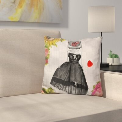 Candy Girl Throw Pillow