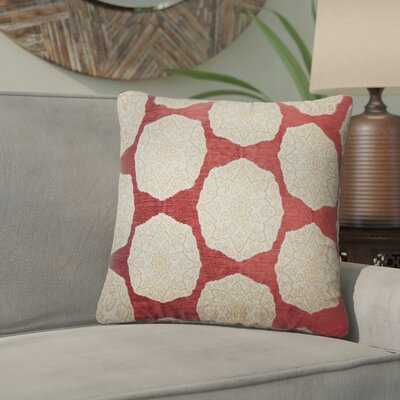 Aurick Geometric Cotton Throw Pillow Color: Cayenne