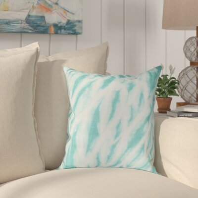Grand Ridge Shibori Stripe Geometric Throw Pillow Size: 18 H x 18 W, Color: Teal