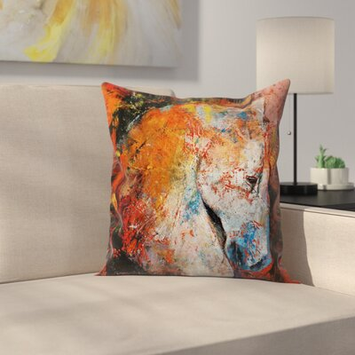 Michael Creese War Horse Throw Pillow Size: 16 x 16