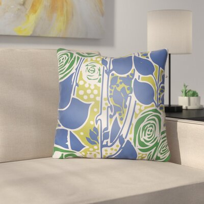 Capron Throw Pillow Size: 20 H x 20 W x 4 D, Color: Blue/Green/Lime
