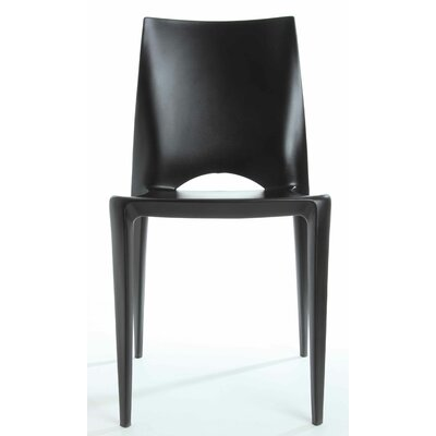 Ruzicka Modern Crescent Stackable Dining Chair Color: Black