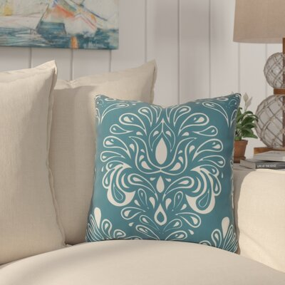 Hardouin Outdoor Throw Pillow Size: 18 H x 18 W x 3 D, Color: Teal