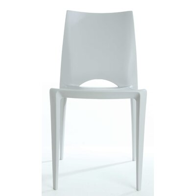Ruzicka Modern Crescent Stackable Dining Chair Color: Light Gray